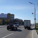 Аминьевское  шоссе 36 (70 м после пересечения с улицей Ватутина, разделительный газон), суперсайт 5х12, Статика, сторона B